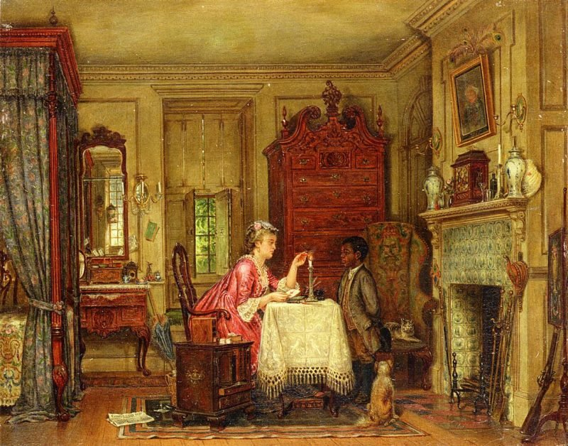 Drafting the Letter   Edward Lamson Henry   oil painting