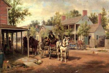 Horse and Buggy on Main Street | Edward Lamson Henry | oil painting