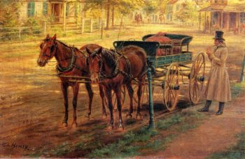 Horse and Buggy | Edward Lamson Henry | oil painting