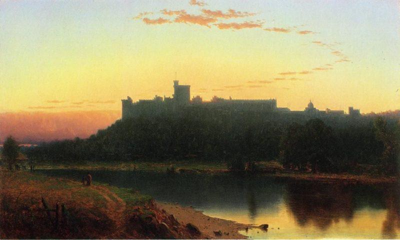 Windsor Castle   Sanford Robinson Gifford   oil painting
