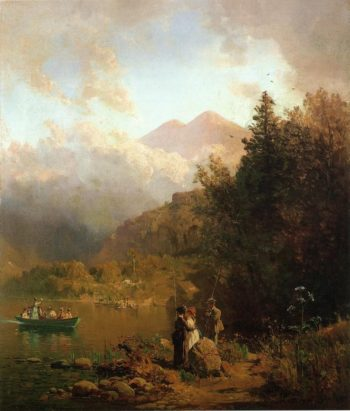 Fishing Party in the Mountains | Thomas Hill | oil painting