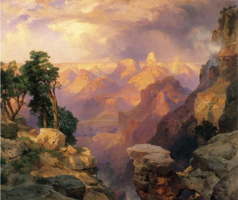Grand Canyon with Rainbows | Thomas Moran | oil painting