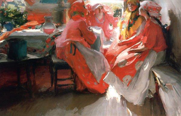 Visit 1915 | Abram Arkhipov | oil painting