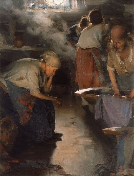 Washer Women 1890s | Abram Arkhipov | oil painting