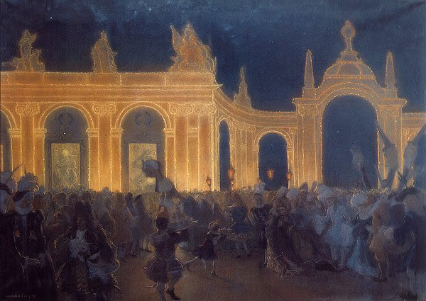 Masquerade under Louis XIV 1898 | Alexander Benois | oil painting