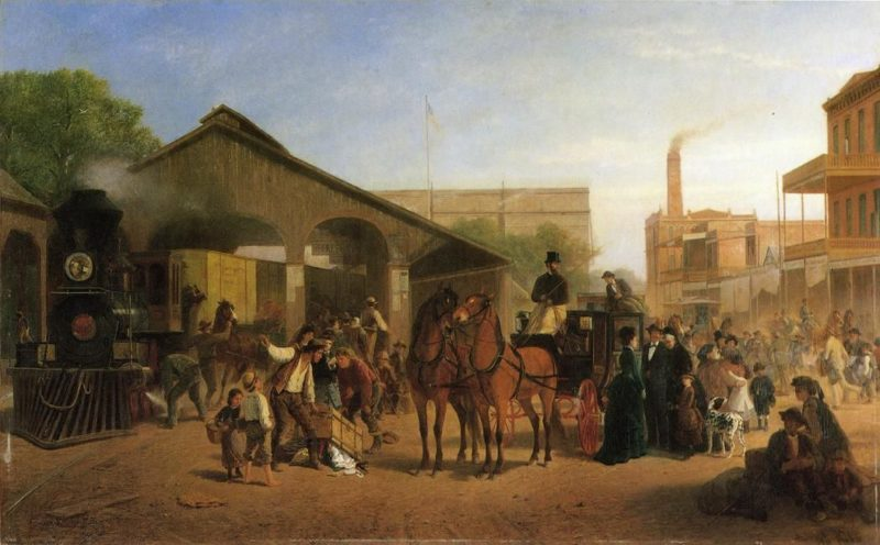 Sacramento Railroad Station | William Hahn | oil painting