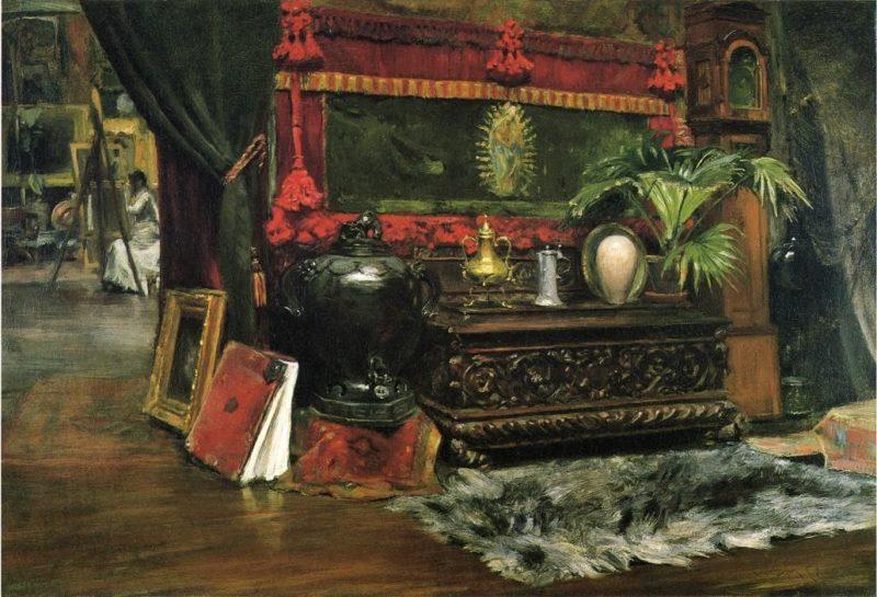 A Corner of My Studio   William Merritt Chase   oil painting
