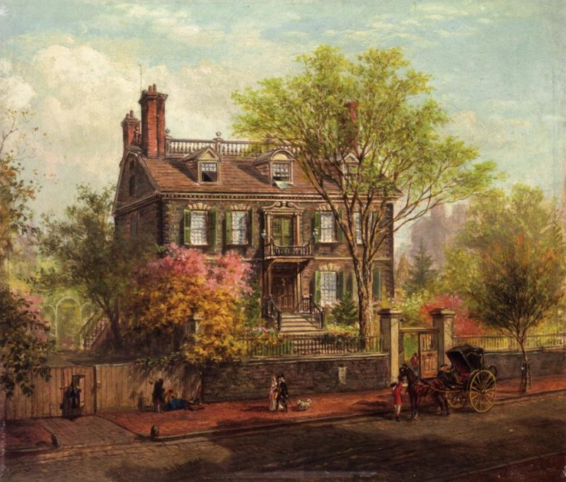 The John Hancock House | Edward Lamson Henry | oil painting