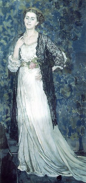 Portrait of Marina Makovskaya 1912 | Alexander Golovin | oil painting