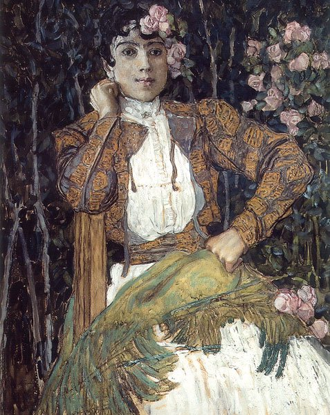 Spanish Woman in Green 1906 1907 | Alexander Golovin | oil painting