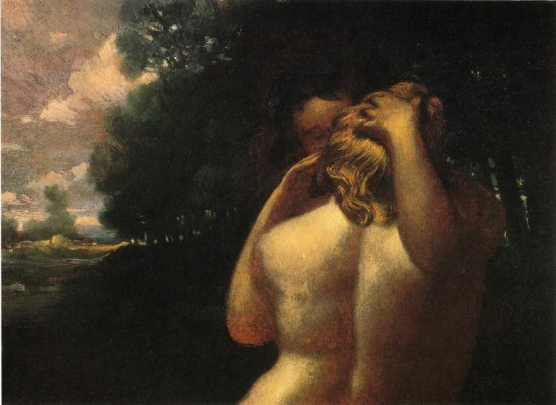Cupid and Psyche | William Page | oil painting