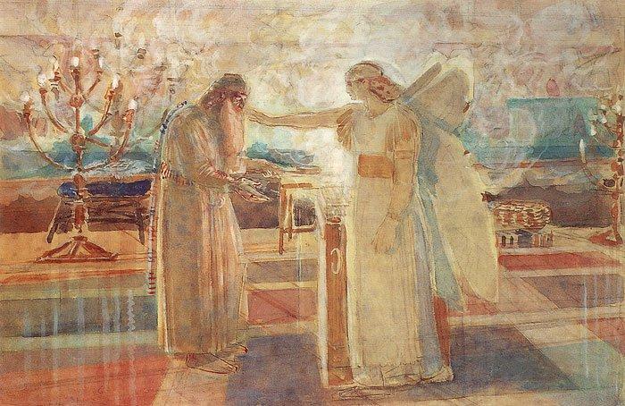 Archangel Gabriel Striking Zachariah with Muteness | Alexander Ivanov | oil painting