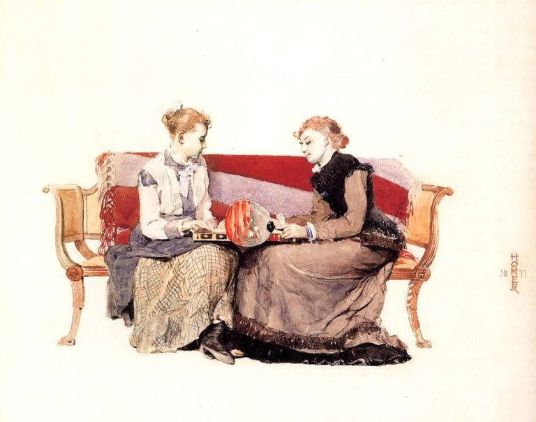 Backgammon | Winslow Homer | oil painting