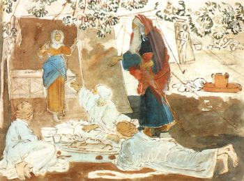 Three Guests Announce Isaac's Birth to Abraham | Alexander Ivanov | oil painting