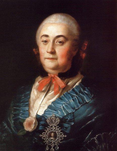 Portrait of Anastasiya Izmailova 1759 | Alexey Antropov | oil painting