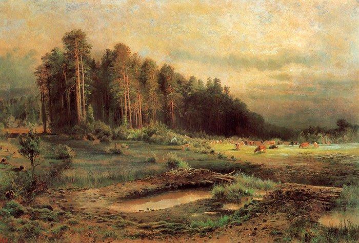 Losiny Ostrov in Sokolniky 1869 | Alexey Savrasov | oil painting