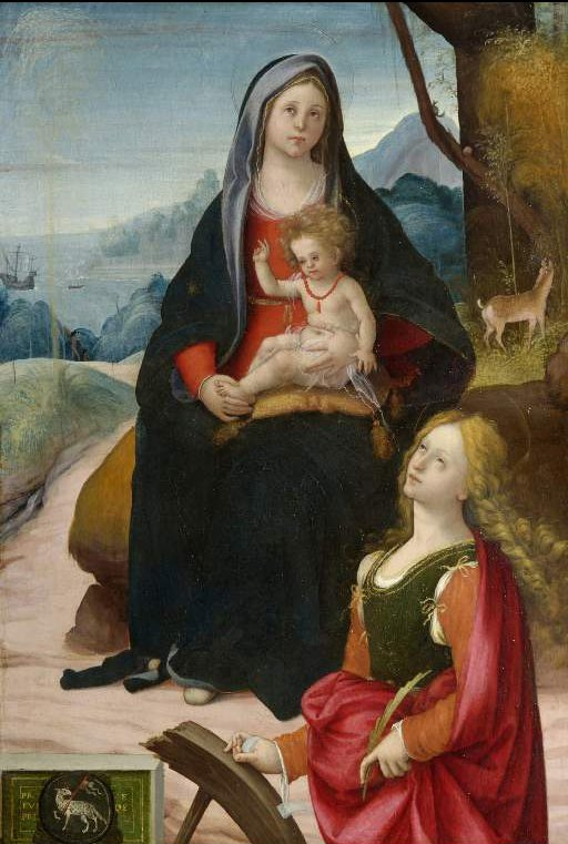 The Virgin and Child with St Catherine | Bartolomeo Ramenghi (The elder) | oil painting