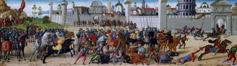 The Siege of Troy   The Death of Hector | Biagio d'Antonio da Firenze | oil painting