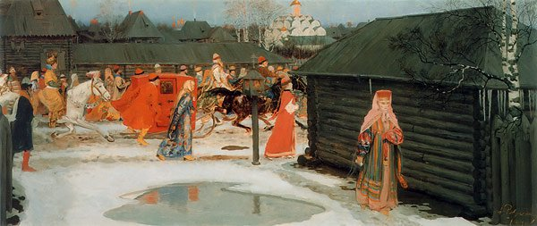 Wedding Procession in the 17th century Moscow 1901 | Andrey Ryabushkin | oil painting