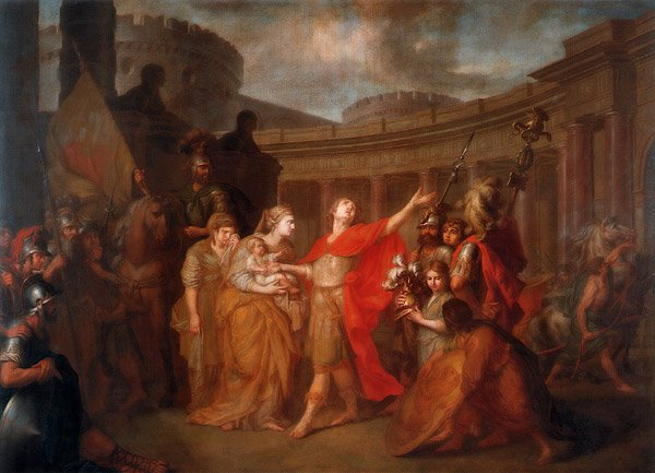 Parting of Hector and Andromache 1773 | Anton Losenko | oil painting