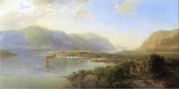 Highlands of the Hudson Near Westpoint   Hermann Fuechsel   oil painting