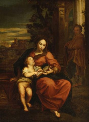 The Virgin teaching the infant Christ to read | Carlo Maratti | oil painting