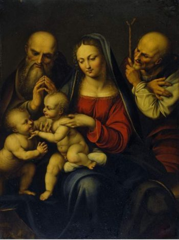 Holy Family with the infant St. John the Baptist | Cesare da Sesto | oil painting