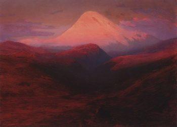 Elbrus in the Evening 1898 1908 | Arkhip Kuinji | oil painting