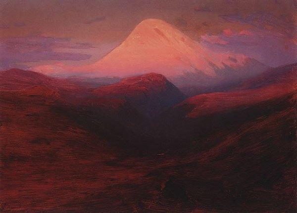 Elbrus in the Evening 1898 1908   Arkhip Kuinji   oil painting