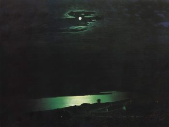 Moon lit Night on the Dnieper 1880 | Arkhip Kuinji | oil painting