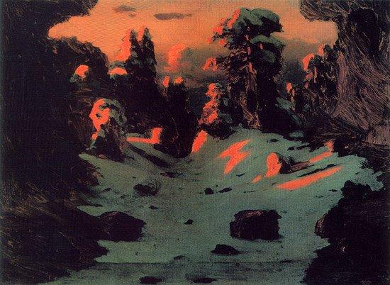 Sunset Effect 1876 1890   Arkhip Kuinji   oil painting