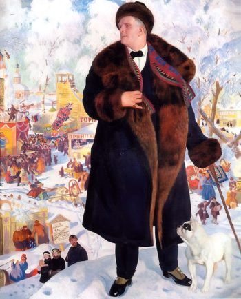 Portrait of Fyodor Chaliapin 1922 | Boris Kustodiev | oil painting