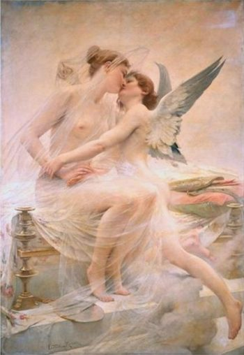 Cupid and Psychea | Lionel Noel Royer | oil painting