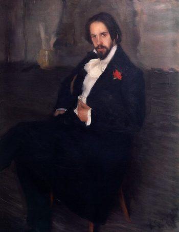 Portrait of Ivan Bilibin 1901 | Boris Kustodiev | oil painting