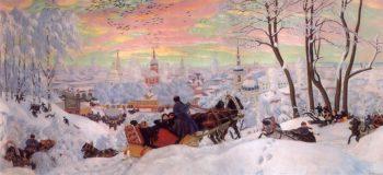 Shrovetide 1916 | Boris Kustodiev | oil painting