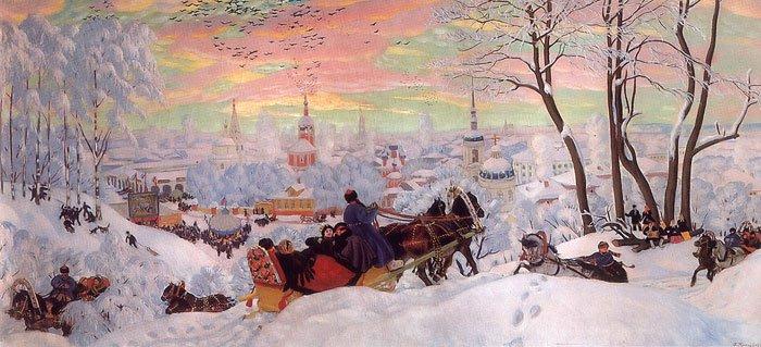 Shrovetide 1916   Boris Kustodiev   oil painting