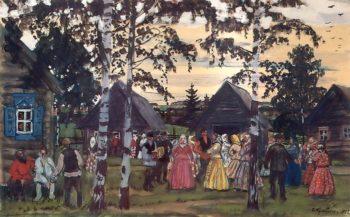 The Reel 1912 | Boris Kustodiev | oil painting
