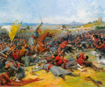 The Battle Near Mentana | Lionel Noel Royer | oil painting