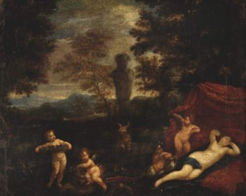 Venus and Cupid in a landscape | Francesco Albani | oil painting