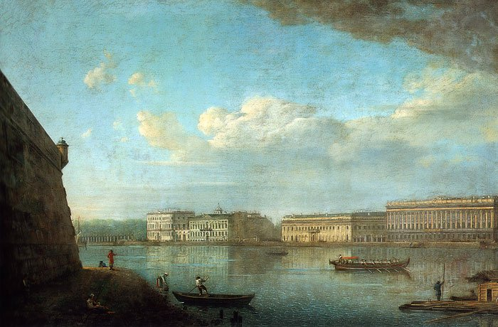 View on the Palace Embankment From the Peter and Paul Fortress 1794 | Fyodor Alexeyev | oil painting