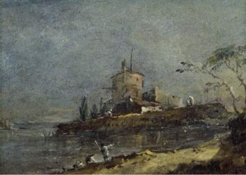 View near Venice | Francesco Guardi | oil painting