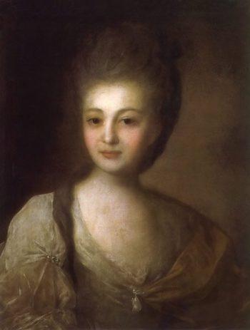 Portrait of Alexandra Struiskaya 1772 | Fyodor Rokotov | oil painting