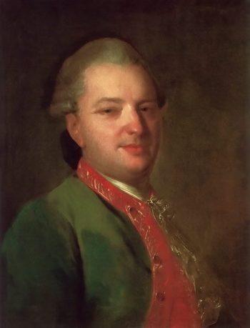 Portrait of Poet Vasily Maikov 1760s | Fyodor Rokotov | oil painting