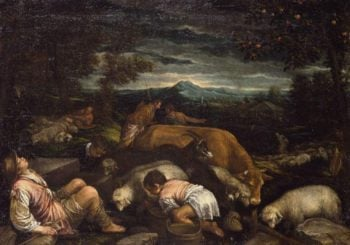 Landscape with Shepherds | Francesco II Bassano (Francesco II da Ponte) | oil painting