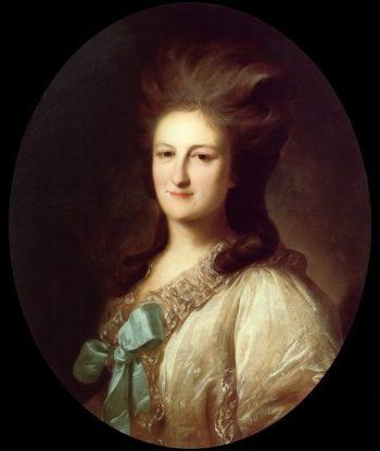 Portrait of Varvara Novosiltseva 1780 | Fyodor Rokotov | oil painting