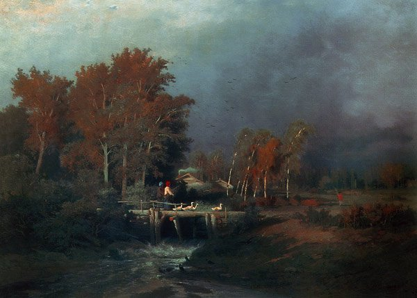 Before Rain 1870 | Fyodor Vasiliev | oil painting