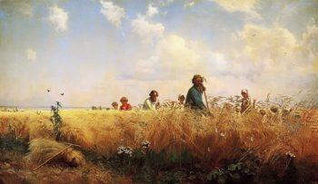 Harvest Time Mowers 1873 | Grigory Myasoedov | oil painting