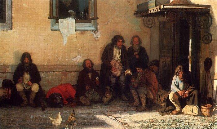 Officials on Lunch Break 1872   Grigory Myasoedov   oil painting
