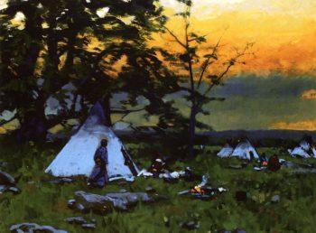 Indian Encampment Montana | William Gilbert Gaul | oil painting