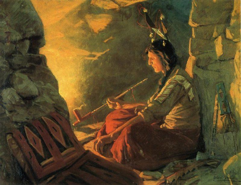 Indian Meditation   William Gilbert Gaul   oil painting